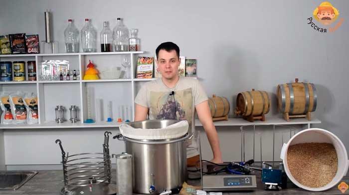 Видео Русская Дымка — Пивоварня Wein: варим пиво Пшеничная Дымка