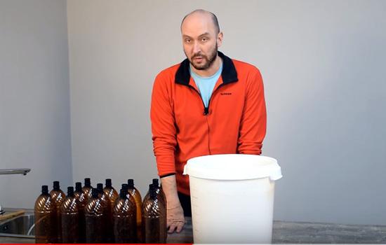 Видео Русская Дымка — Пшеничное светлое пиво из экстракта. Розлив.