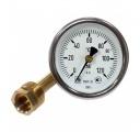 Термометр биметаллический, осевой 0-120