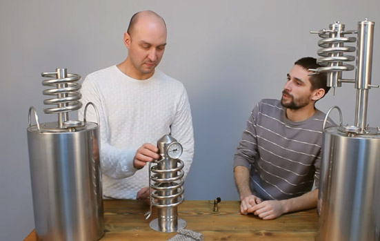 Видео Русская Дымка — Самогонные аппараты Hanhi: Steel, Aroma и Grand
