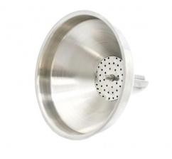 Воронка металлическая с фильтром 130 мм