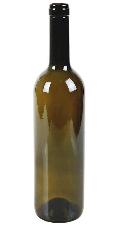 Бутылка винная оливковая, 750 мл