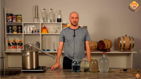 Видео Русская Дымка — Бренди на Wein 4: брага и первая перегонка