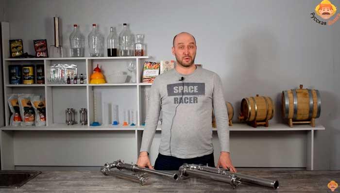Видео Русская Дымка — Узел отбора по пару для бражных колонн Wein 3, Wein 4 и других