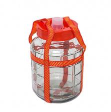 Стеклянная емкость с гидрозатвором, 9 л