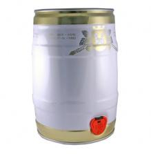 Бочонок 5-литровый EasyKEG IT бело-золотой