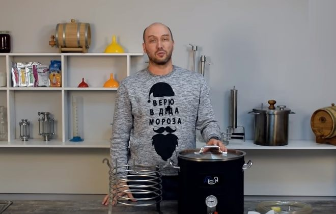 Видео Русская Дымка — Сусловарочный котел Wein: обзор новинки. Варка пива, затирание сусла.