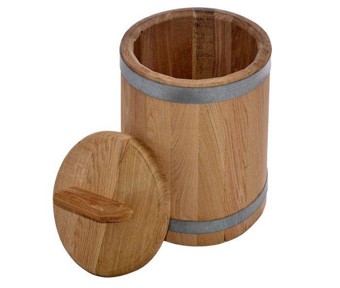 Кадка дубовая на 3 литра для засолки