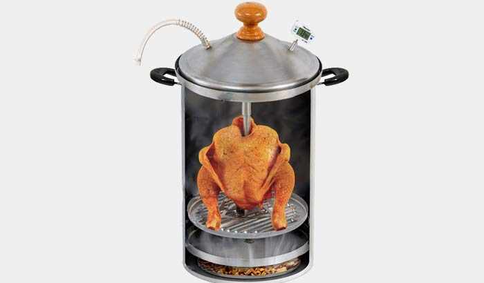 Насадка для курицы в коптильне Hanhi
